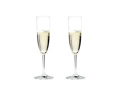 Riedel Vinum Copa para Cavas, Cristal, Multicolor, 22.7x11.6x27.5 cm, 2 Unidades