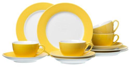 Juego de tazas de café amarillas Ritzenhoff