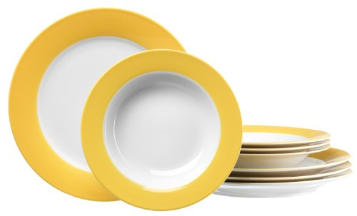 Juego de platos Amarillos Ritzenhoff