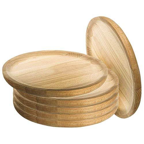 Artema - Platos para Pulpo de Madera - Set de 6 - Ø 20 cm