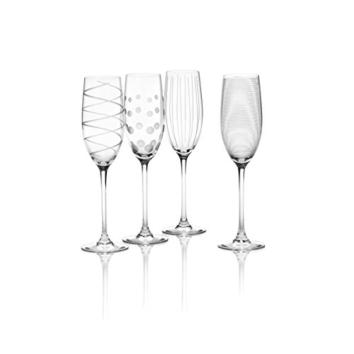 Mikasa Cheers Champagne Flutes, juego de 4