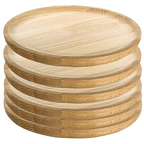 Artema - Platos para Pulpo de Madera - Set de 6 - Ø 24 cm