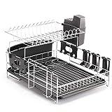 Racks Professional Dish Rack - Acero inoxidable 304 - Totalmente personalizable - Estera de microfibra incluida - Diseño moderno - Gran capacidad