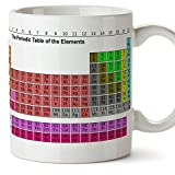 Tazas de desayuno original para regalar a químicos - Tabla periódica - Tabla de los elementos periódicos - Cerámica 350 ml