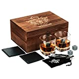 Caja de Juegos de Copas para Whisky - Piedras para Whisky - Copas Scotch o Bourbon - Juego de Rocas de Enfriamiento para Whisky - Juego de Copas Bourbon Ideal para los Amantes del Whisky