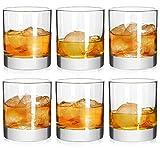 Rock estilo anticuado vasos de Whisky 11oz, 100% corto gafas para Camping/Fiesta, Juego de 4