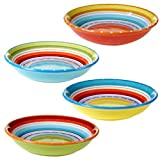 Certified International 25627SET/4 Mariachi Soup/Pasta Bowl (Set of 4), 9.25, Multicolor by Certified International