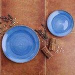 Vajillas de color azul