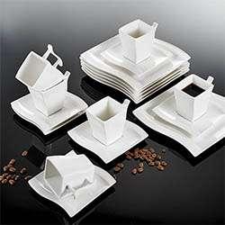 Malacasa Vajilla de porcelana de 32 piezas