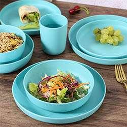 Set de platos de Bambú Morgiana