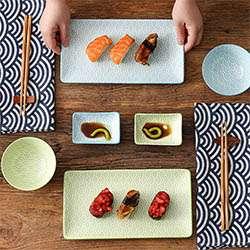 NATSUKI Vajillas de Sushi Japonés