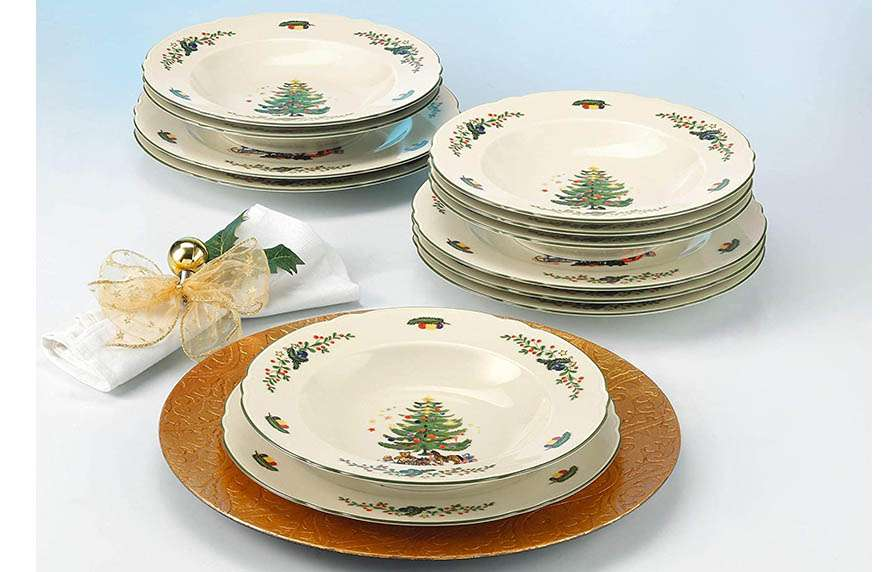 Vajilla de platos navideños Seltmann
