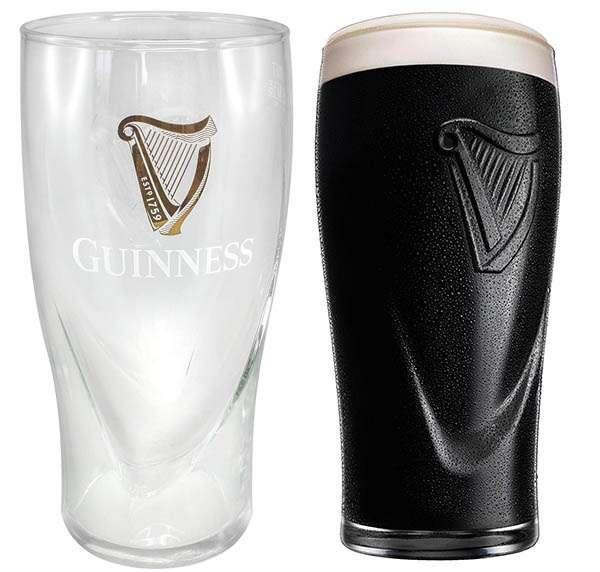 Vaso de cerveza Luminar Guinness