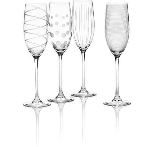 Mikasa Cheers, copas de Champagne set de 4