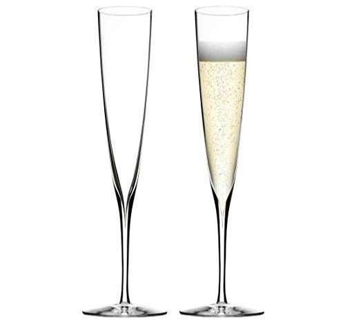 Waterford Elegance - Par de copas de champán de cristal, 160 ml