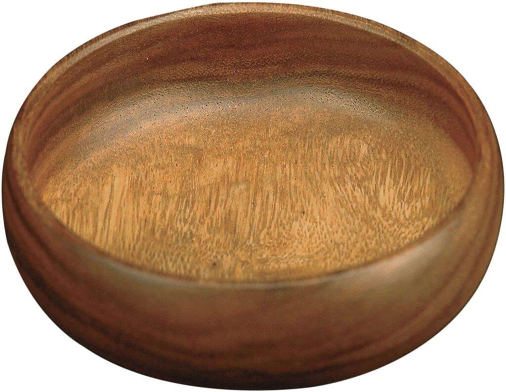 Cuenco redondo para ensaladas de madera