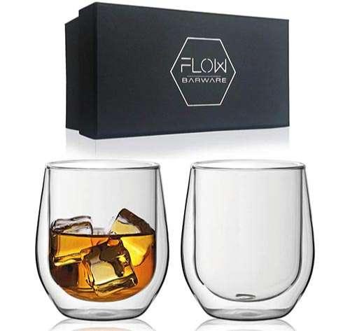 Vasos de whisky de doble pared