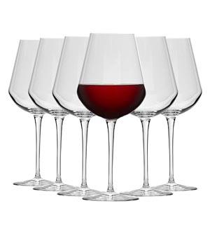 Copas de vino tinto cristalino Bormiolli Rocco
