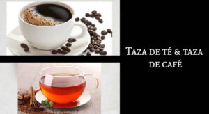 Diferencias taza de café taza de te