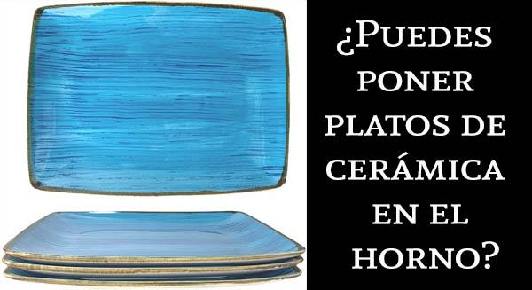 Puedes poner la vajilla de cerámica en el horno
